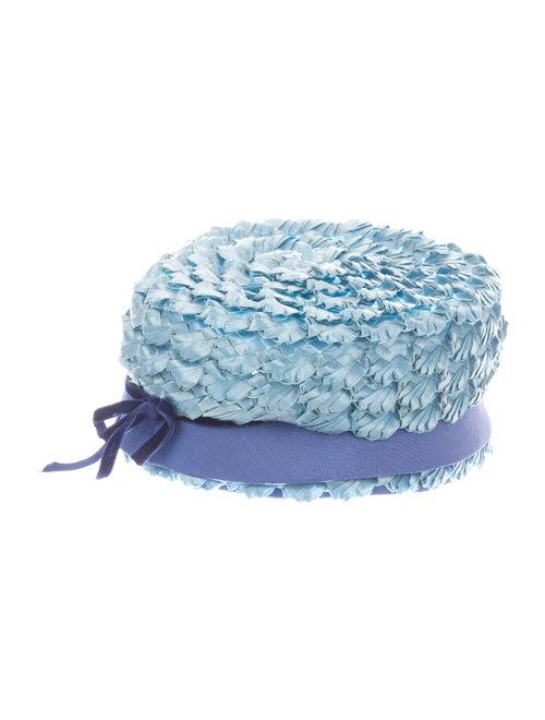 GiGi NY Raffia Hat Blue