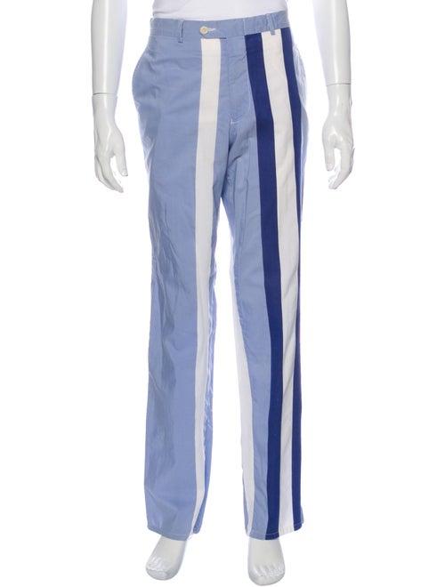 Giuliano Fujiwara Striped Pants Blue