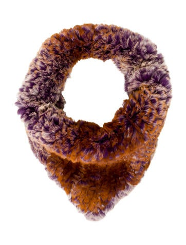 Glamourpuss Knitted Fur Snood w/ Tags None