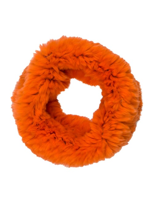 Glamourpuss Rabbit Fur Snood Orange