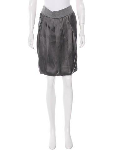 GUNEX x Brunello Cucinelli Draped Silk Skirt None