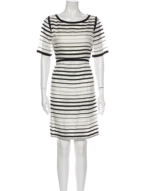 Goat Striped Mini Dress White