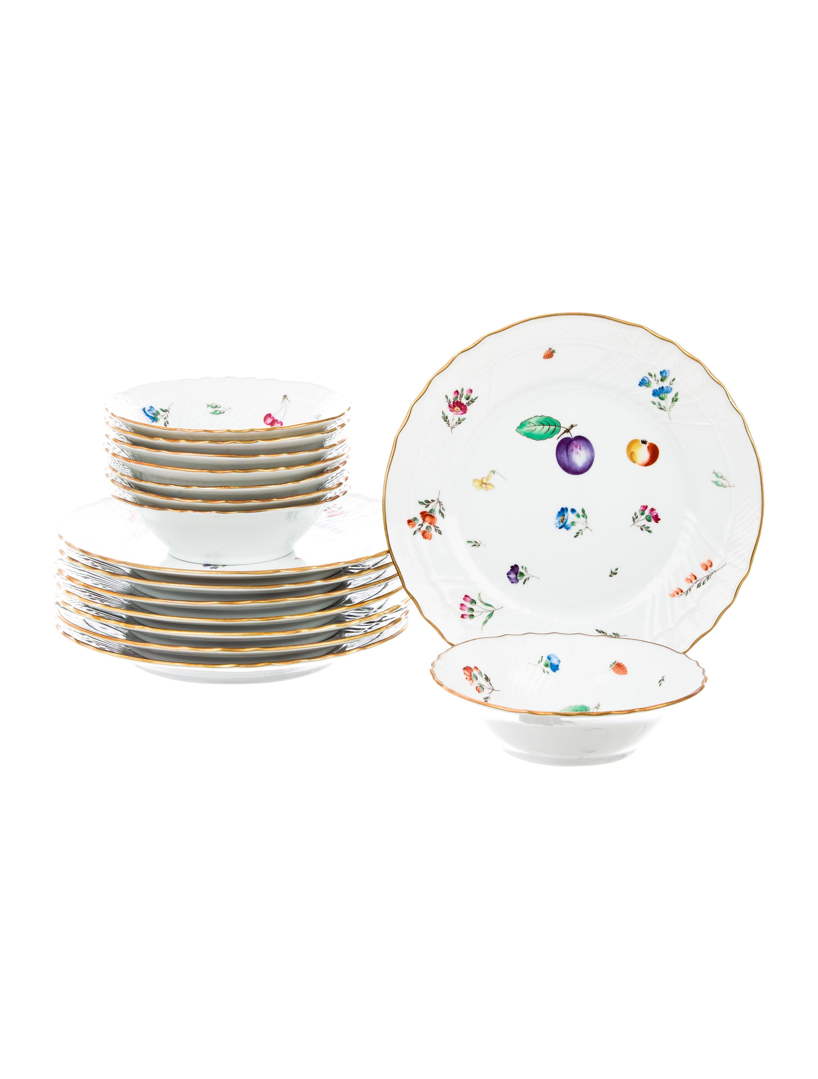 Richard ginori fruits bowls plates set tabletop and for Kitchen set plates