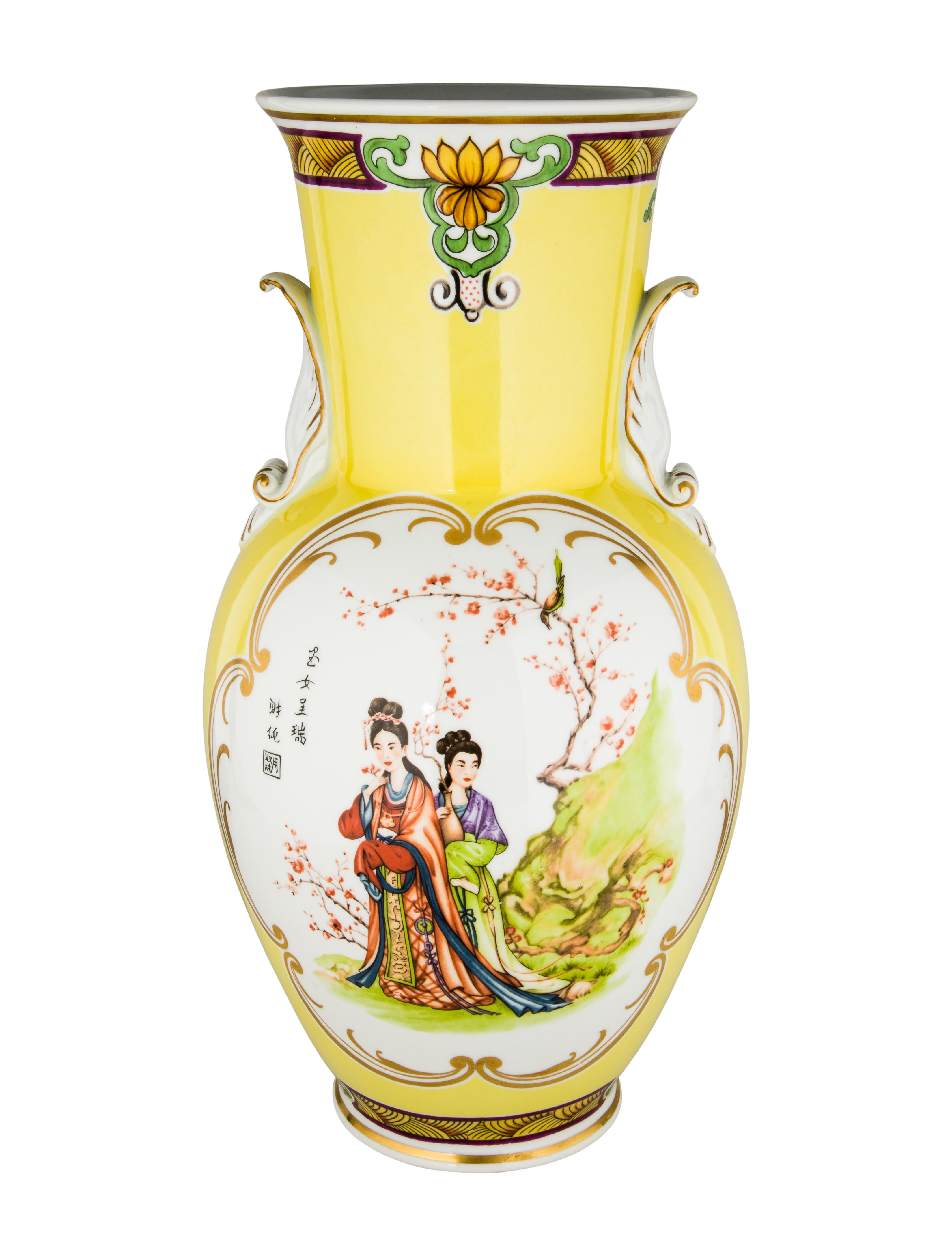 Richard ginori large porcelain flower vase decor and - Decorative flower vase ...