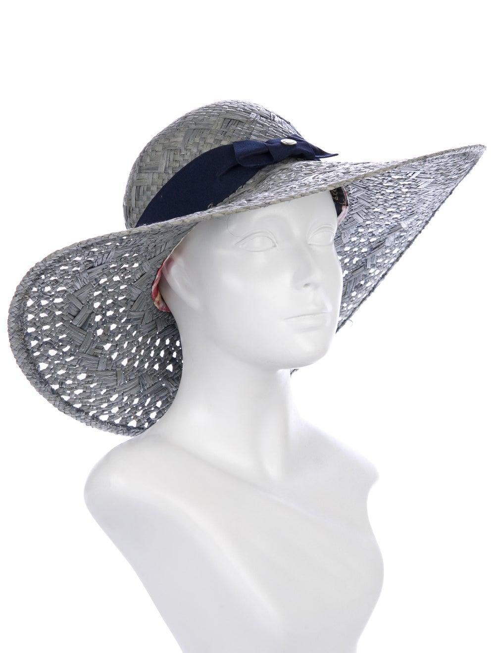 Goorin Bros. Straw Wide-Brim Hat Grey - image 3