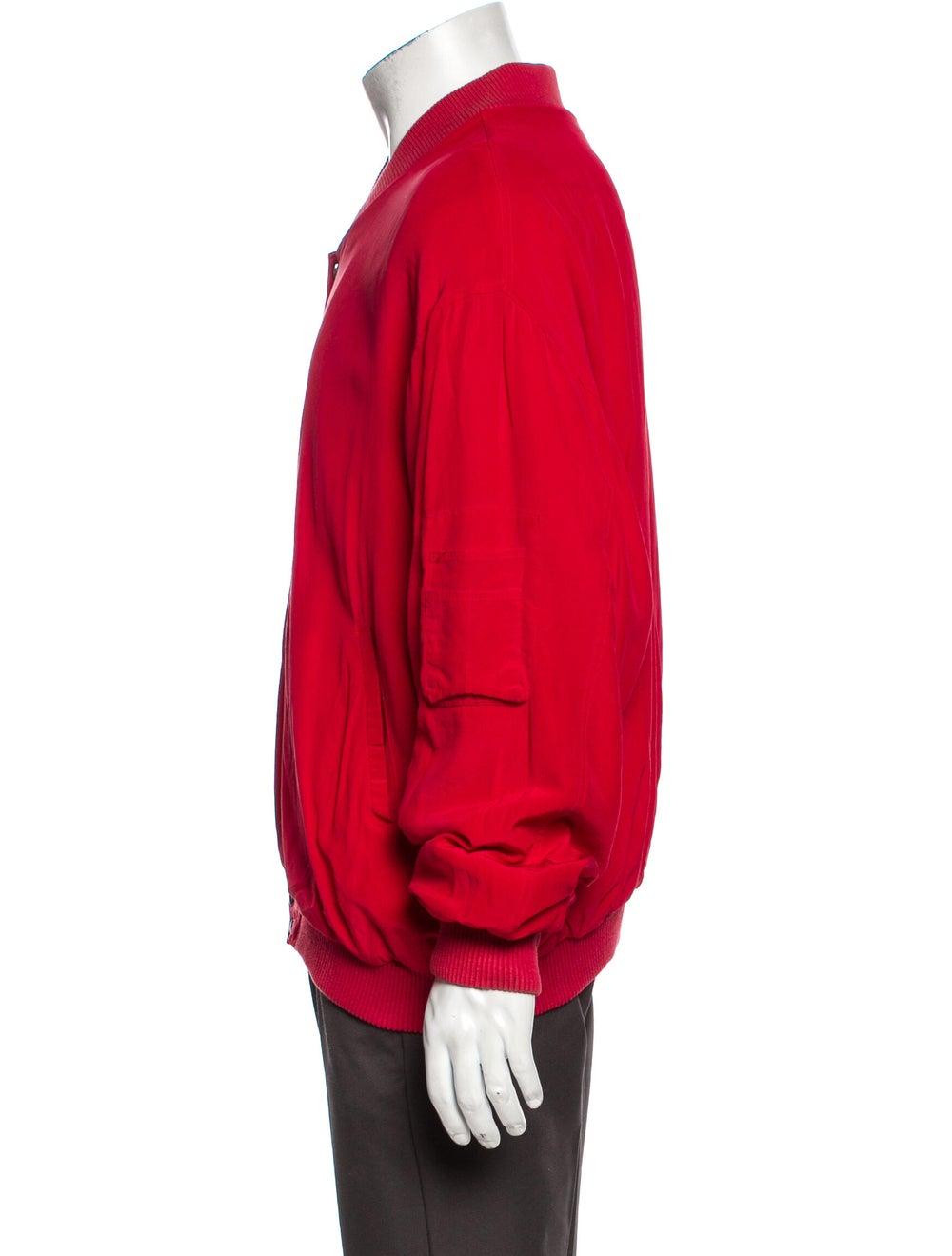 Go Silk Silk Bomber Jacket Red - image 2