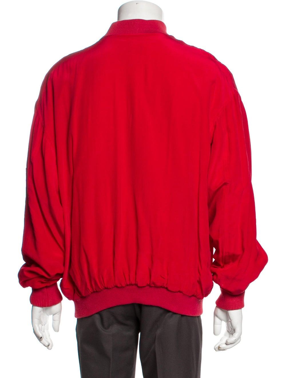 Go Silk Silk Bomber Jacket Red - image 3