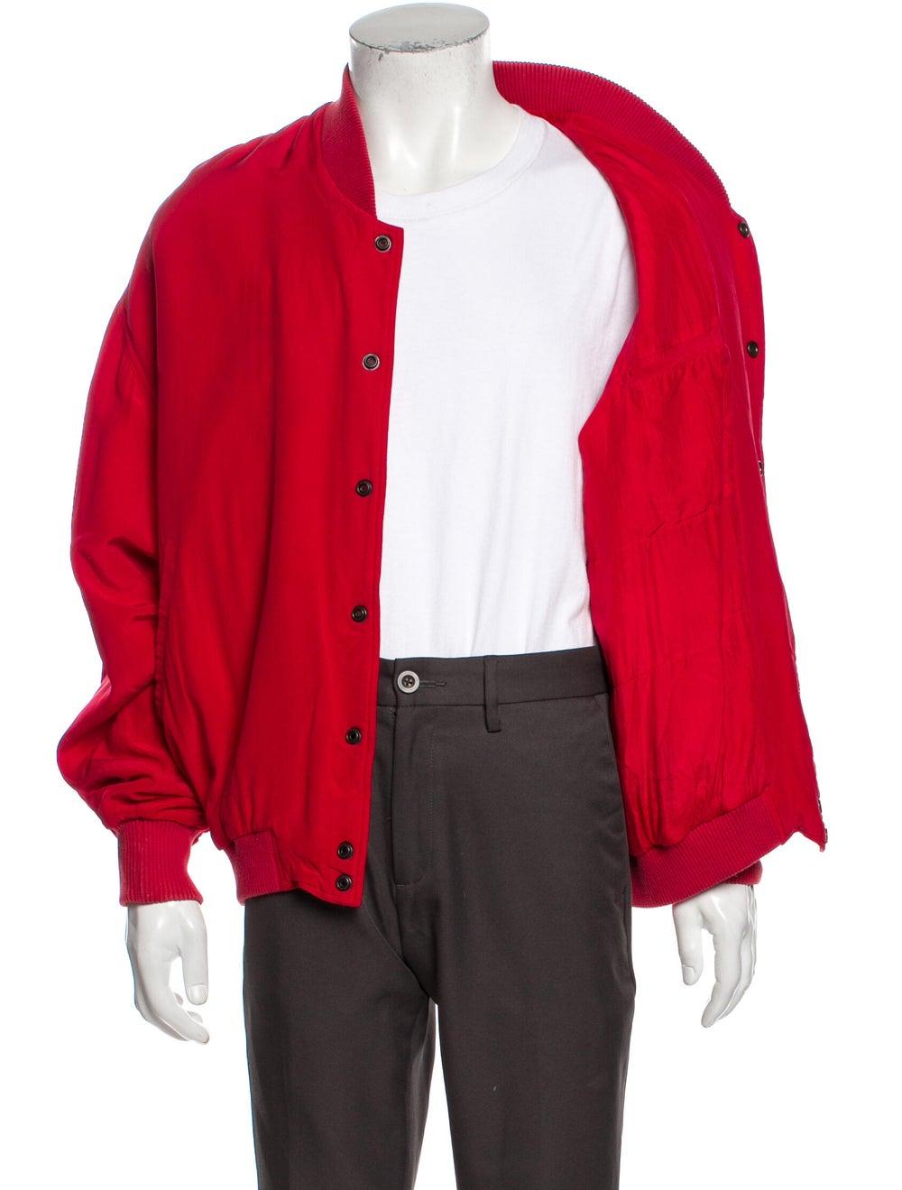 Go Silk Silk Bomber Jacket Red - image 4