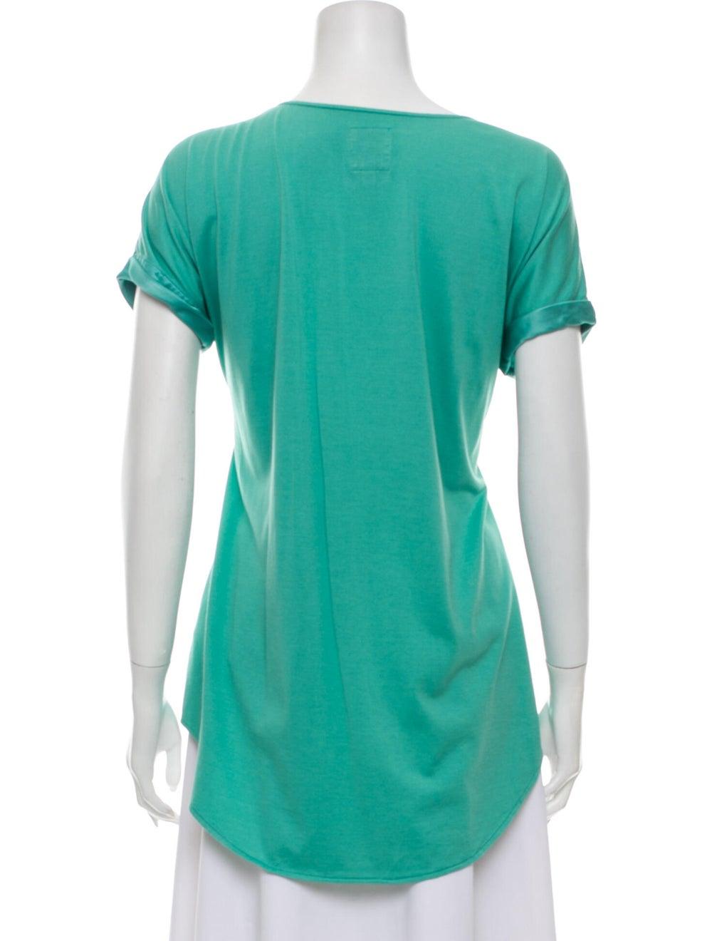 Go Silk Silk Scoop Neck T-Shirt Green - image 3