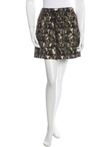 Gryphon Metallic Mini Skirt
