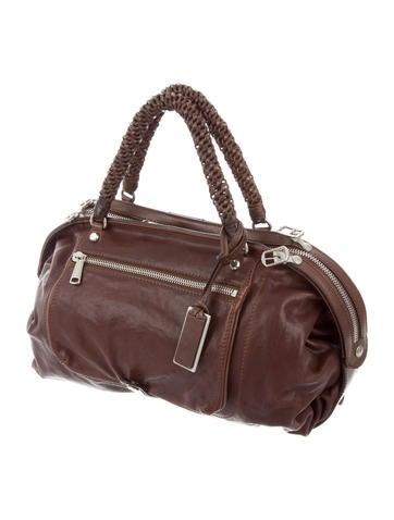 Gryphon Large Leather Satchel - Handbags - WGR21889 | The RealReal