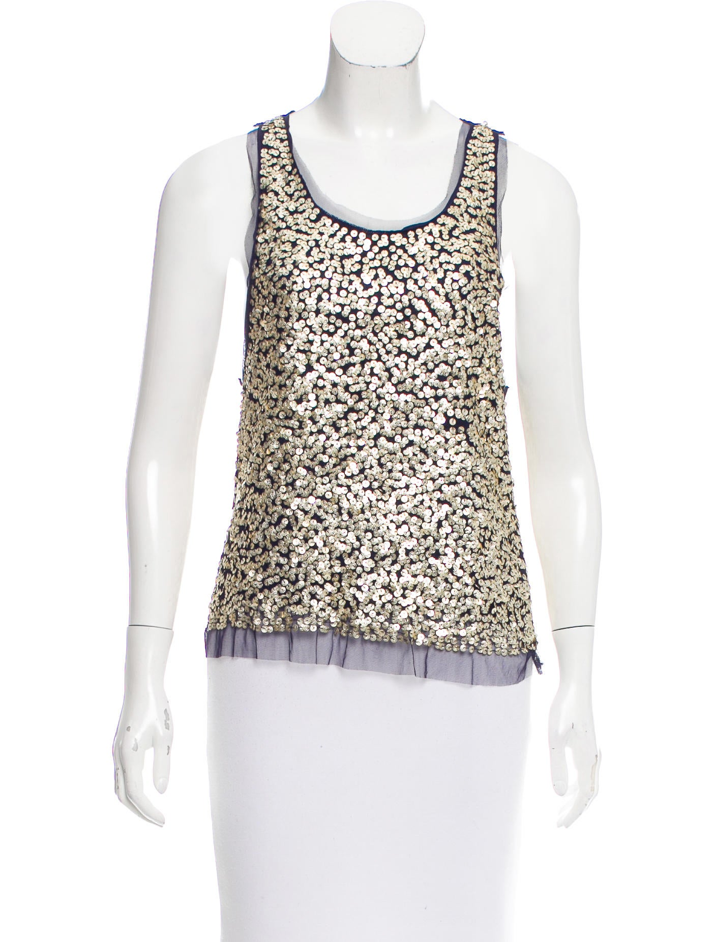 30fd73325d9a9 Gryphon Sequin Sleeveless Top - Clothing - WGR21971