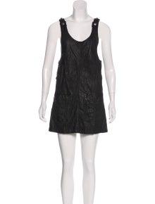 b4df7e05b30ab Gryphon. Leather Mini Dress