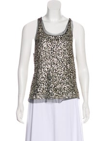 55b8a6ddeb88d Gryphon. Embellished Sleeveless Top