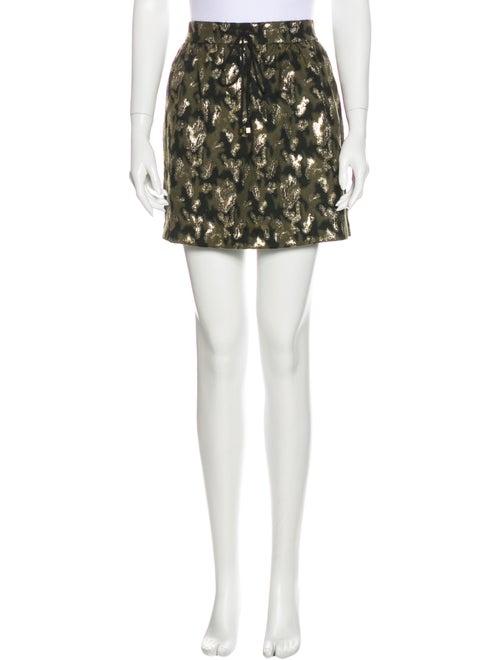 Gryphon Metallic Mini Skirt Olive