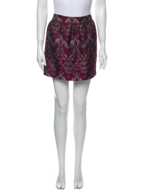 Gryphon Printed Mini Skirt Red