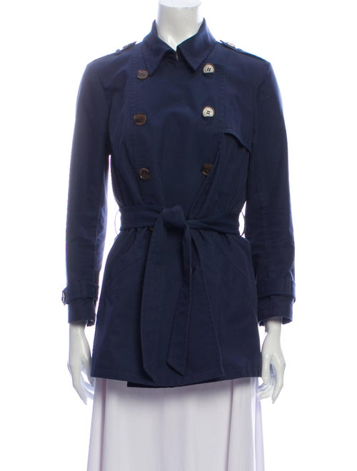 Gryphon Trench Coat Blue