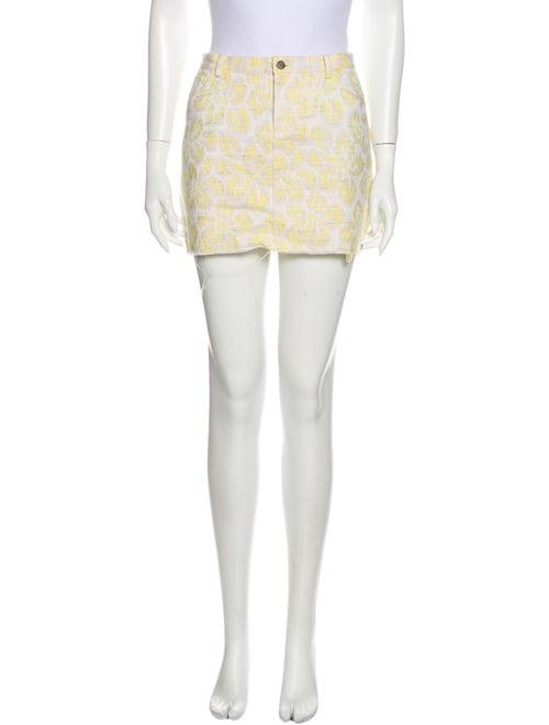 Gryphon Printed Mini Skirt Yellow