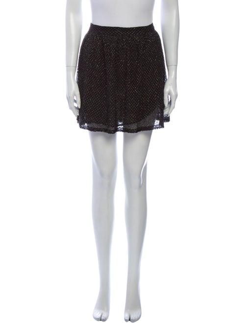Gryphon Silk Mini Skirt Black