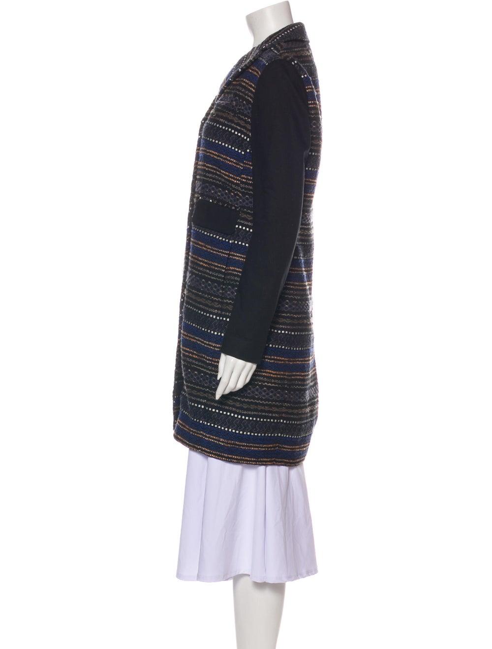 Gryphon Tweed Pattern Coat Black - image 2