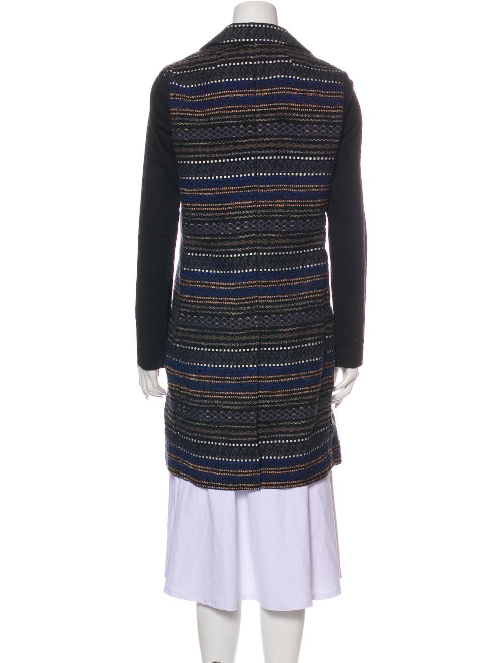 Gryphon Tweed Pattern Coat Black - image 3