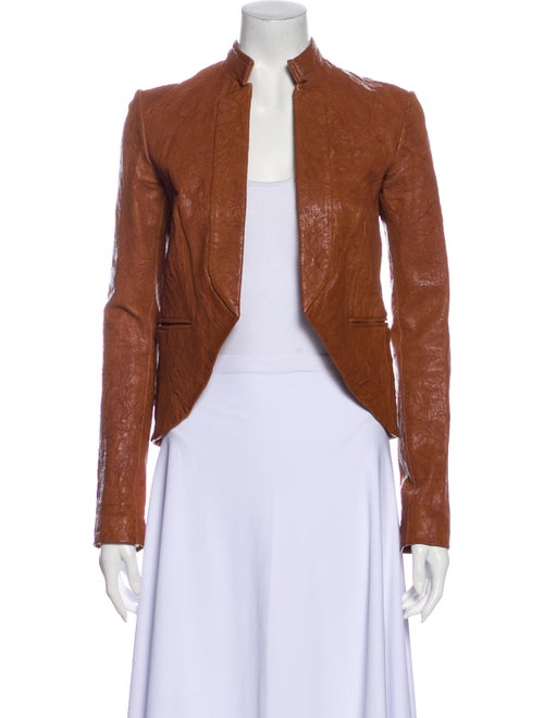 Gryphon Leather Jacket Brown