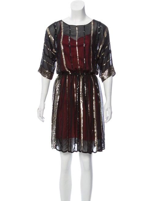 Gryphon Silk Embellished Dress Black