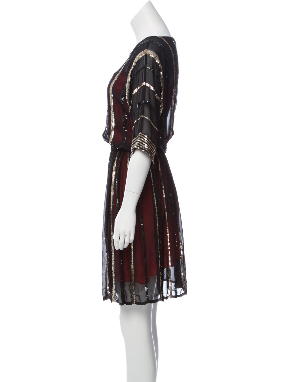 Gryphon Silk Embellished Dress Black - image 2