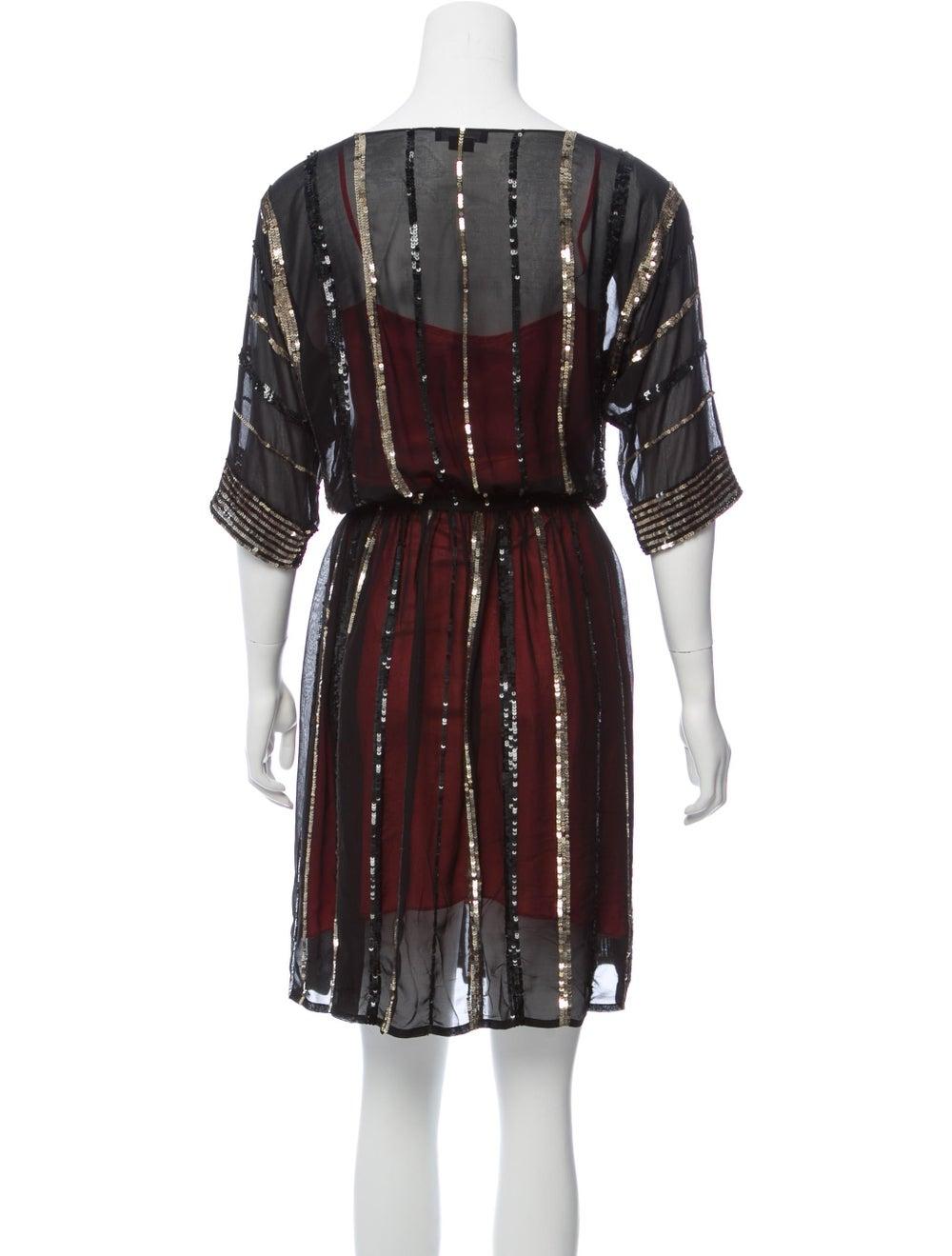 Gryphon Silk Embellished Dress Black - image 3