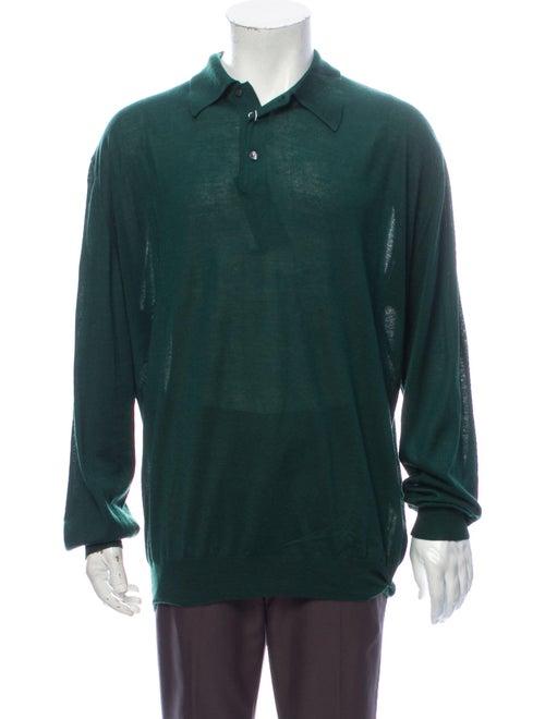 Gran Sasso Cashmere Collar Polo Sweater w/ Tags Gr