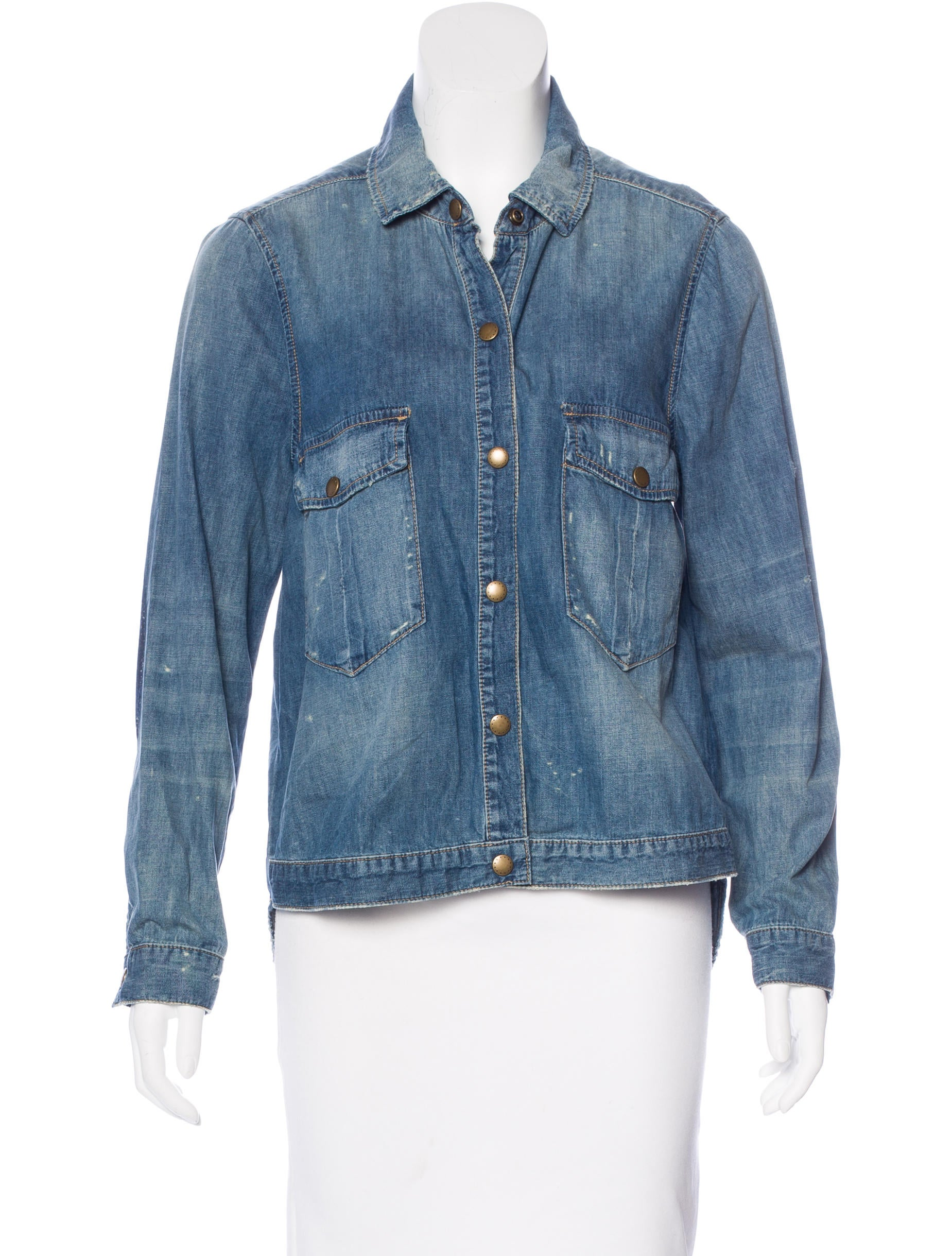 The great chambray button up top clothing wgrea20550 for Chambray top
