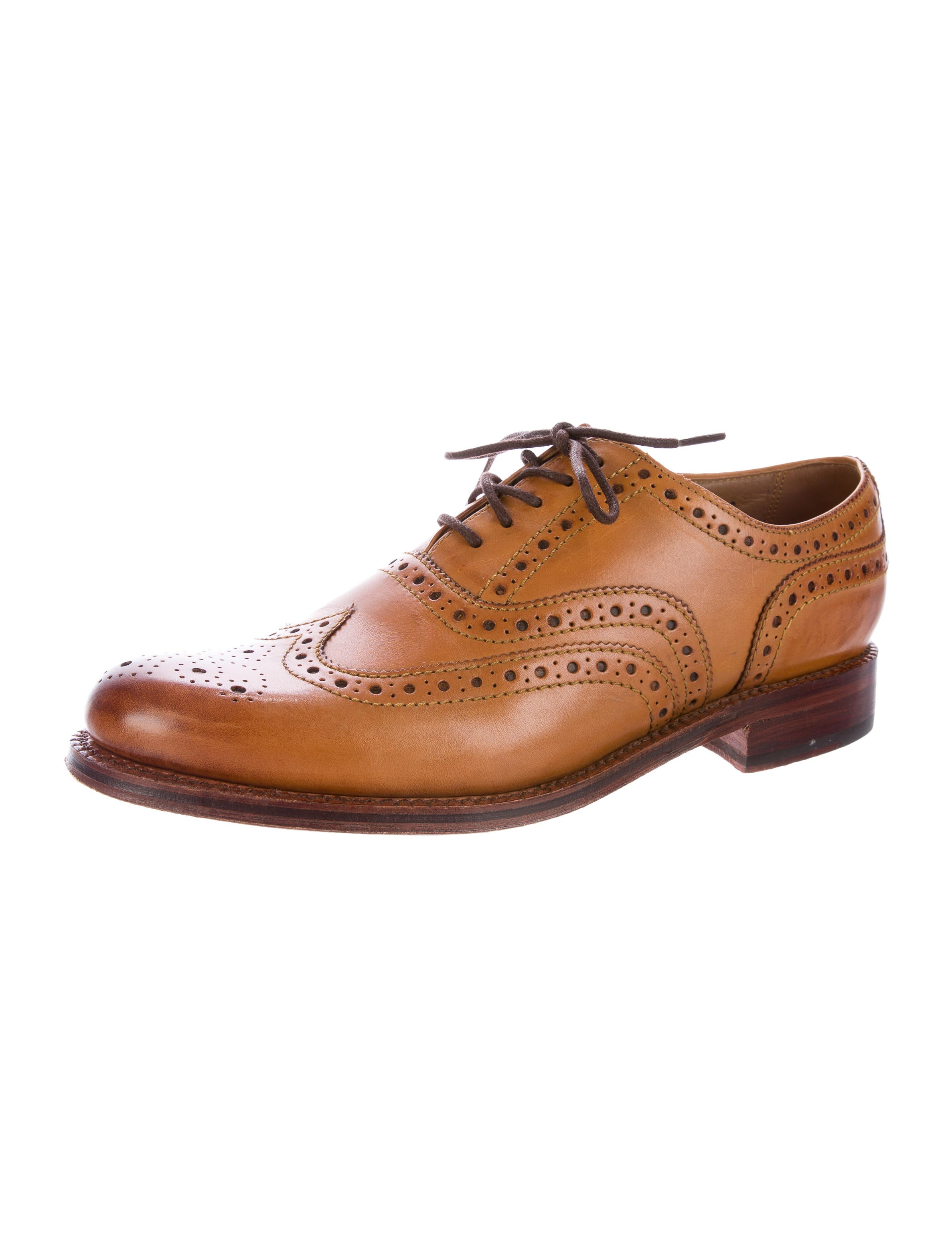 grenson leather wingtip brogues shoes wgren20090 the
