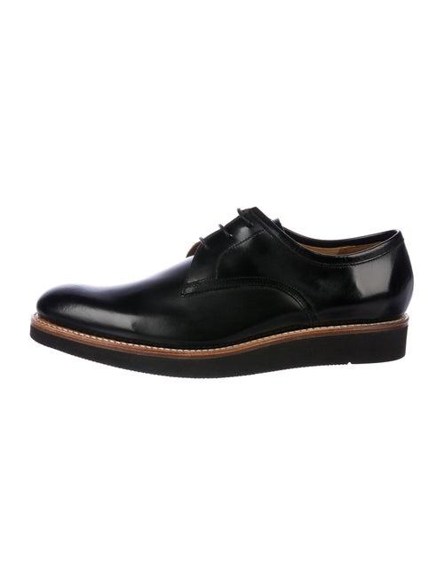 Grenson Lennie Leather Derby Shoes Black
