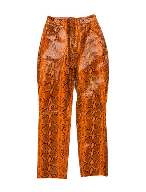 Grlfrnd Animal Print Straight Leg Pants Orange - image 1