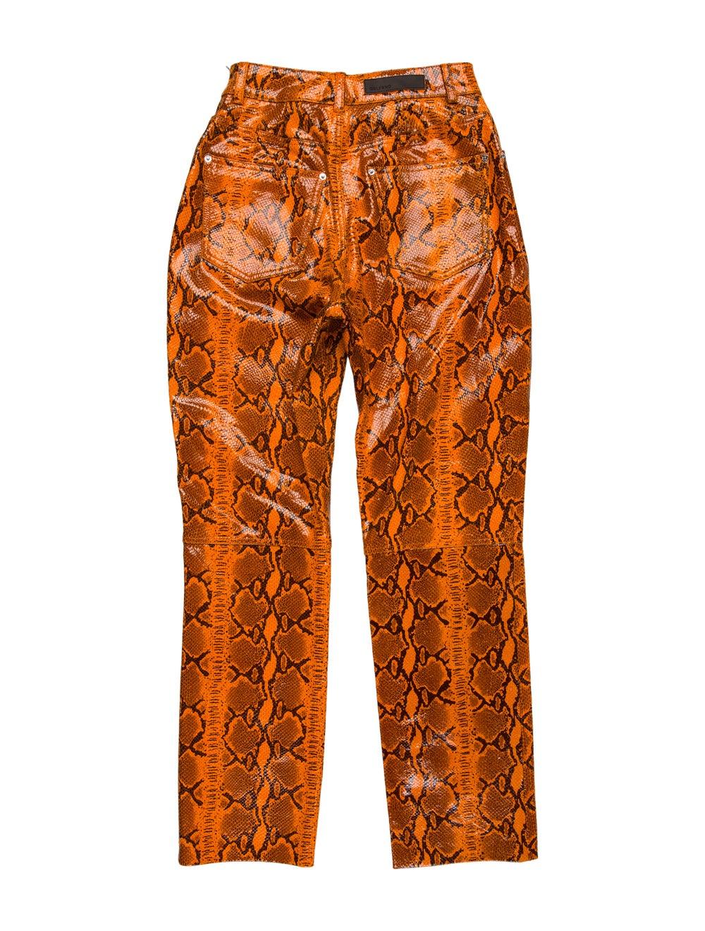 Grlfrnd Animal Print Straight Leg Pants Orange - image 2