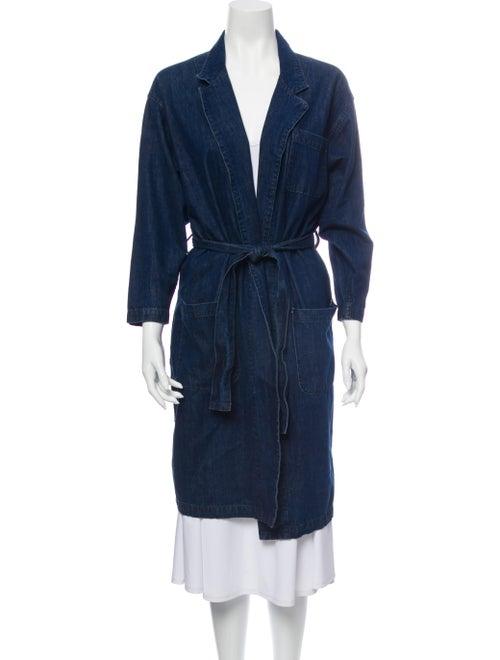 Grlfrnd Trench Coat Blue