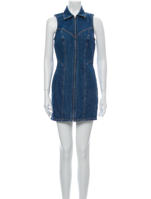 Grlfrnd Mini Dress Blue