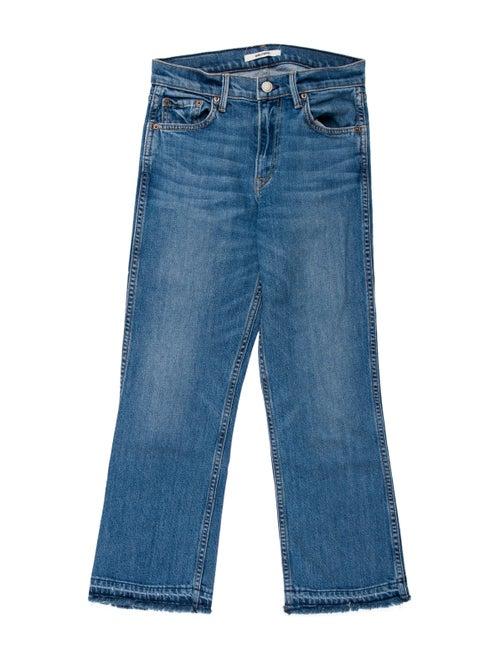 Grlfrnd Mid-Rise Straight Leg Jeans Blue