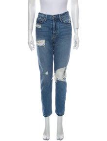 GRLFRND High-Rise Straight Leg Jeans