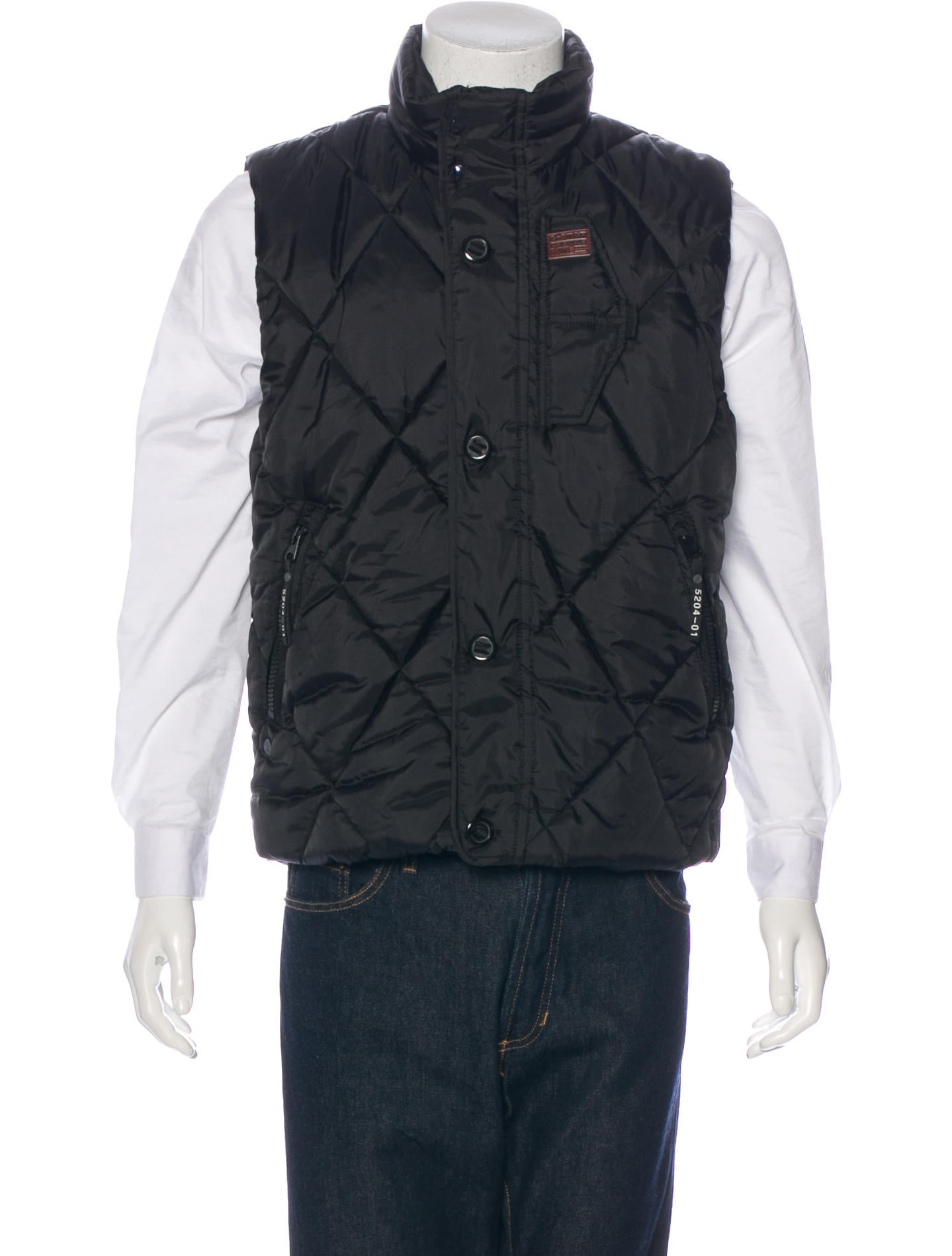 g star raw doonray quilted vest clothing wgsrw20074 the realreal. Black Bedroom Furniture Sets. Home Design Ideas