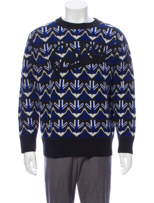 G-Star RAW Lambswool Printed Pullover Blue