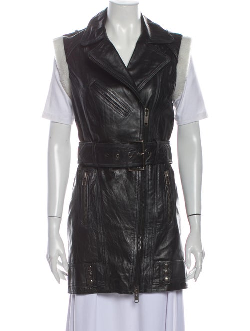 Gestuz Leather Vest Black