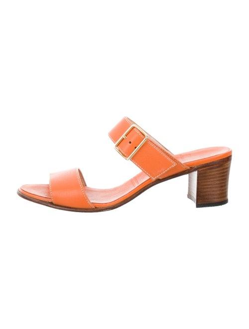 Gravati Leather Slides Orange
