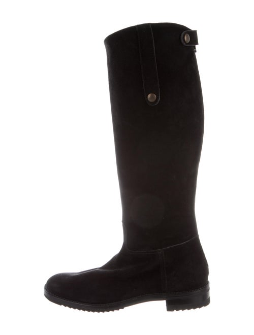 Gravati Suede Riding Boots Black