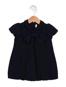 Il Gufo Girls' A-Line Cap Sleeve Dress