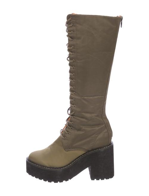 G.v.g.v. Lace-Up Knee-High Boots Olive