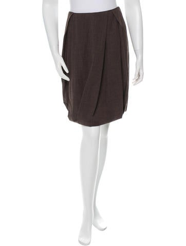 Gunex Pleated Wool Skirt w/ Tags None