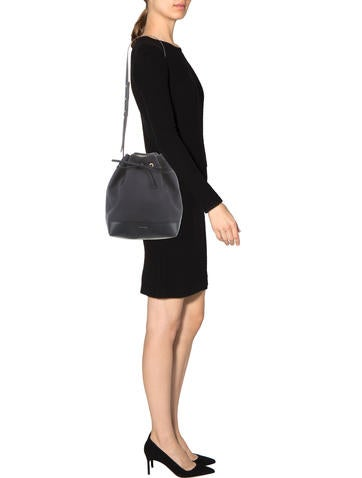 Leather-Trimmed Bucket Bag