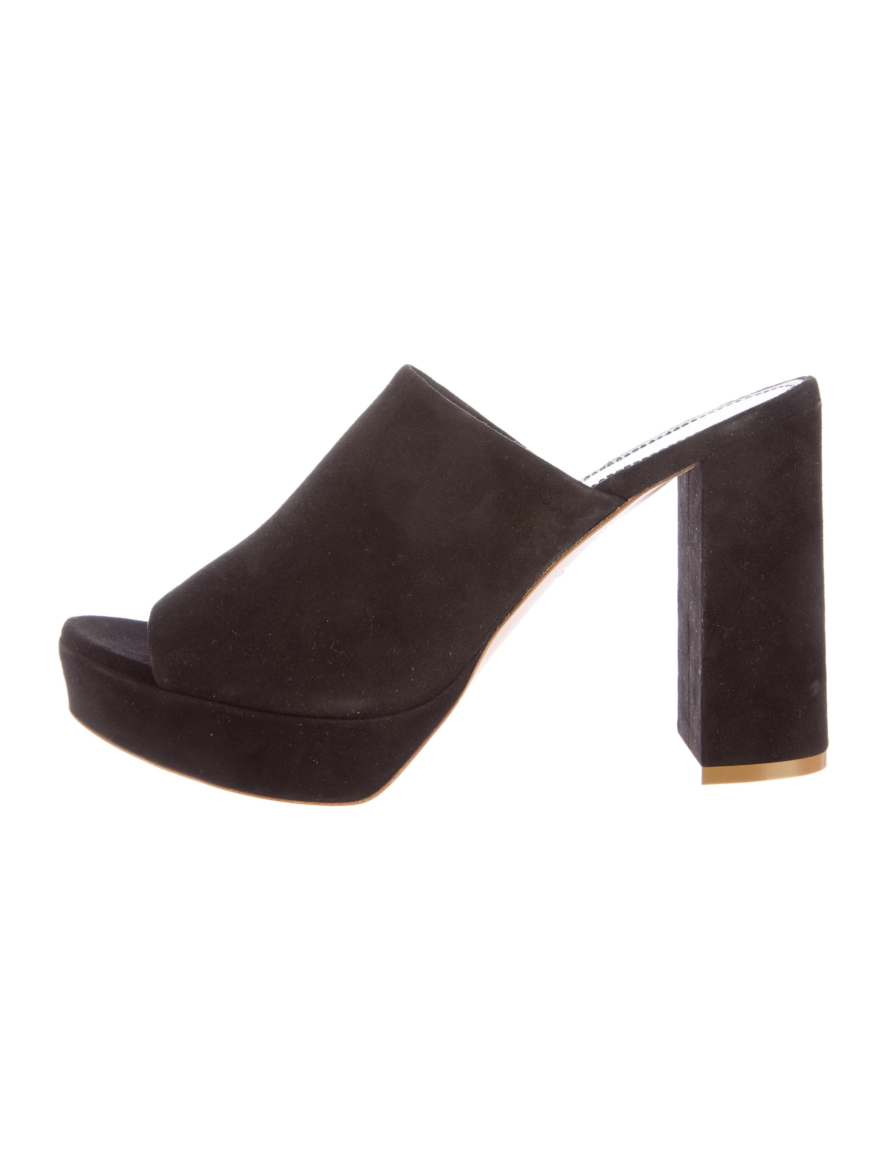 mansur gavriel suede platform mules shoes wgy20879