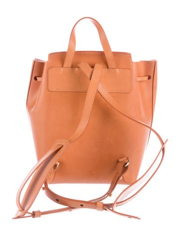 Leather Drawstring Backpack
